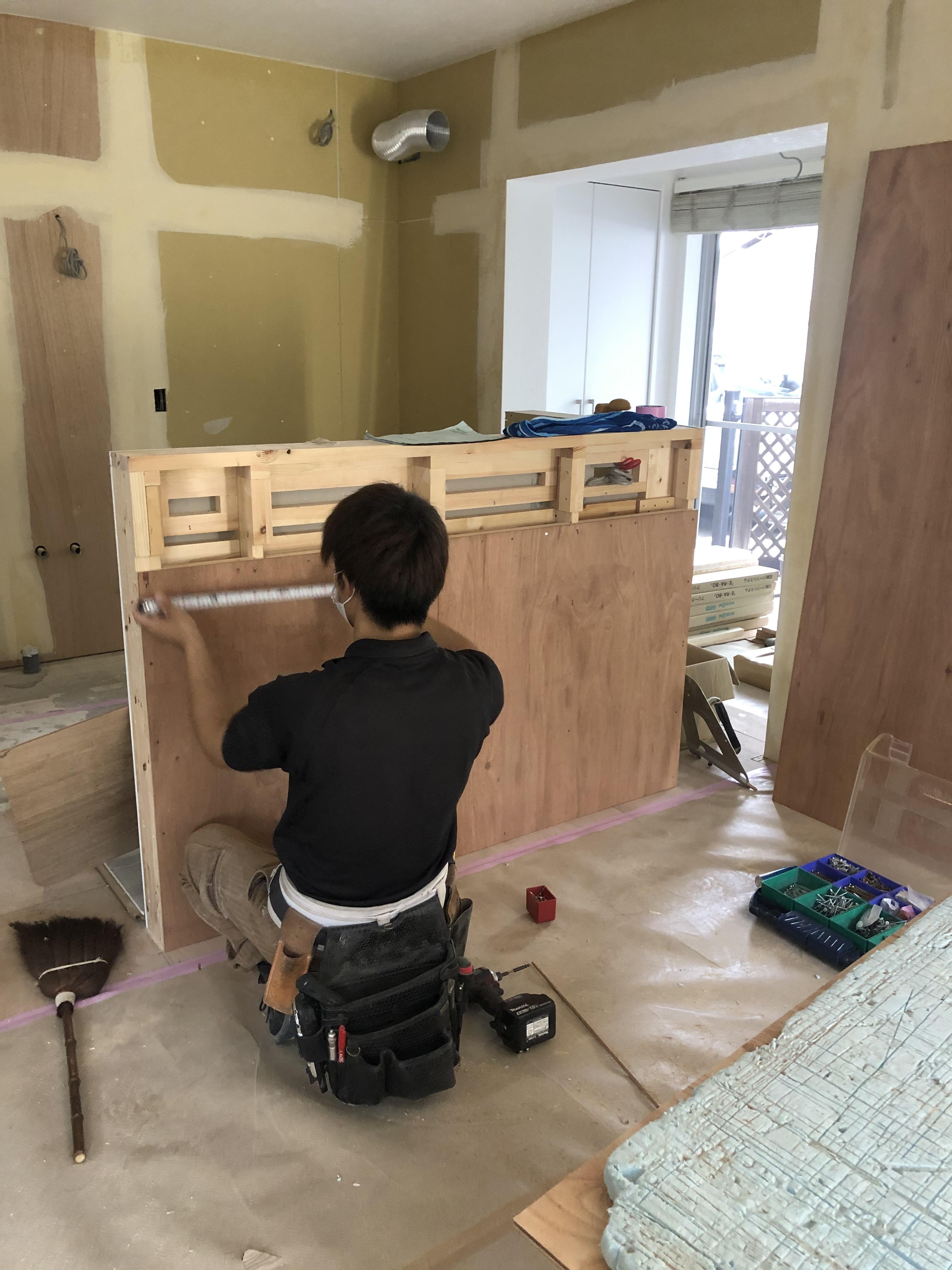 静岡市葵区上足洗 A様邸 ロッジ新築と既存住宅リノベーション工事②