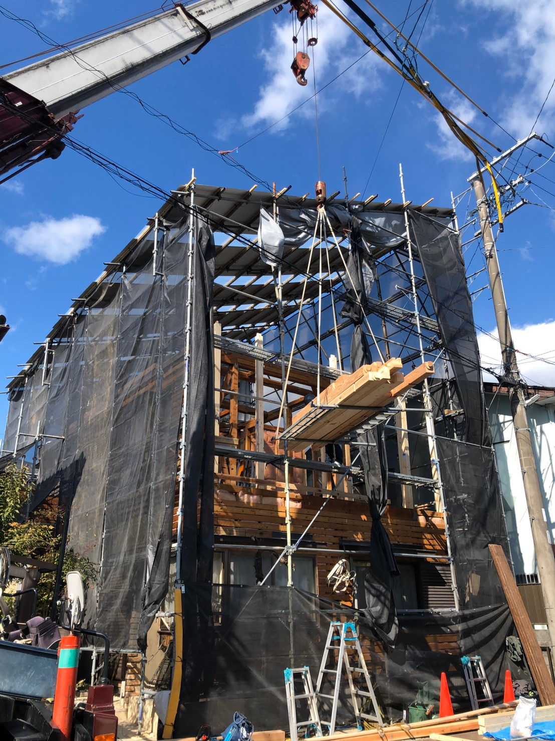 静岡市葵区北 M様邸 増改築工事 建前