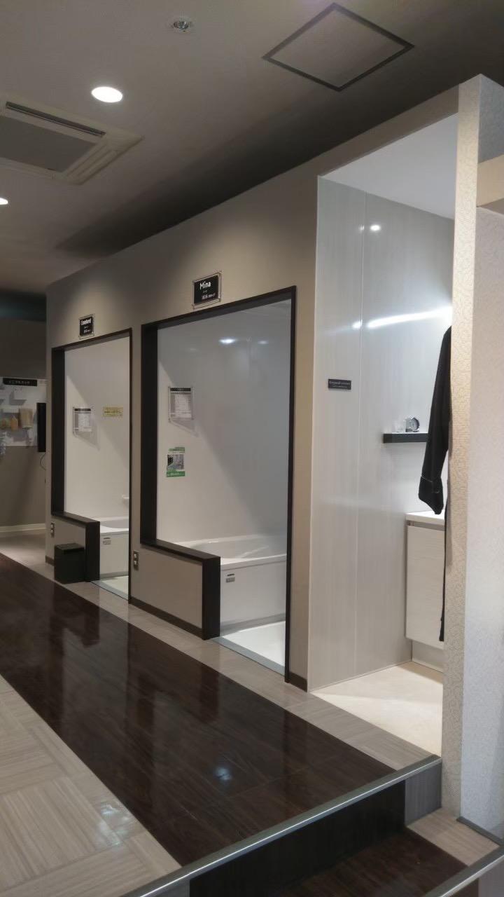 タカラスタンダード静岡ショールーム1階玄関手洗いコーナー新設工事