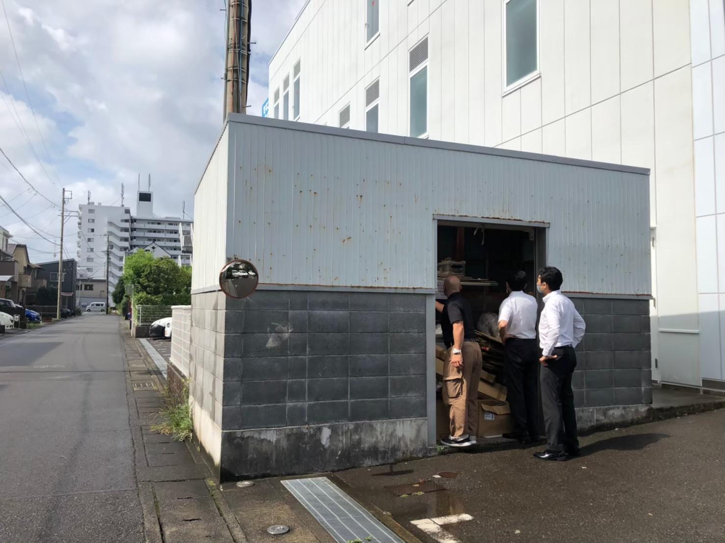 タカラスタンダード静岡ショールーム ダスト倉庫改築工事